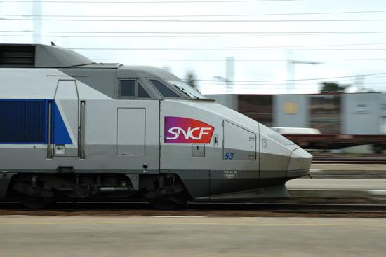 TGV SE à pleine vitesse