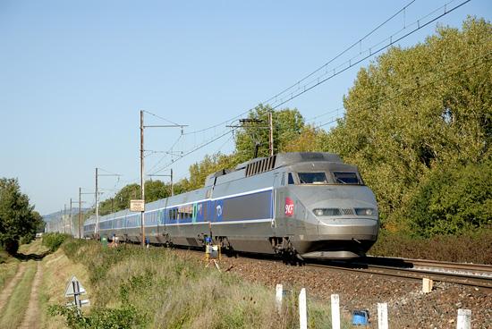 A l'occasion de travaux, ce TGV circule à contre sens sur une ligne équipée en IPCS.