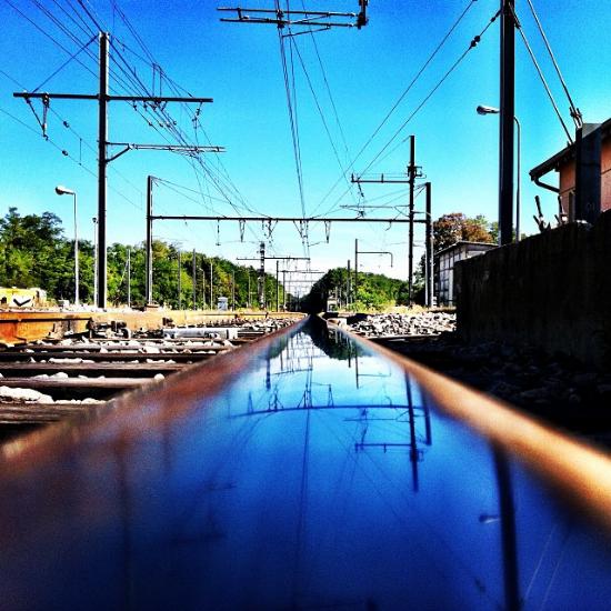 Belle journée sur la voie