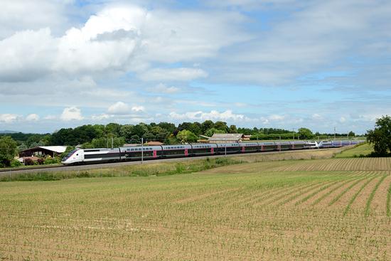 Rame TGV Duplex en livréer Carmillon