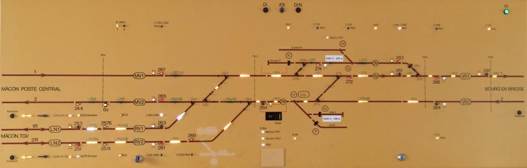 C'est maintenant tracé et ouvert en direction et en provenance de la LGV.