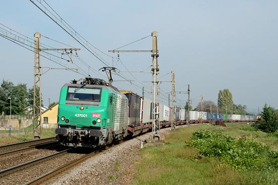 L'autoroute ferroviaire Le Boulou - Perpignan.