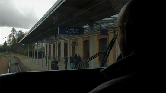 Entrée en gare de Carhaix.